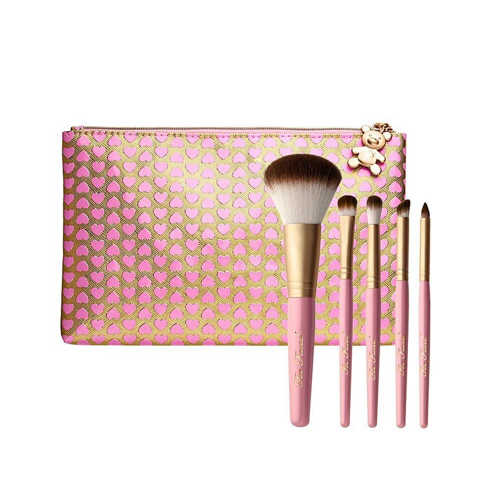 Too Faced Teddy Bear Hair Professional 5 Piece Cruelty-Free Brush Set