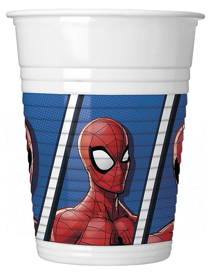 COOLMP - Lote de 3 Vasos de plástico Spiderman 200 ml ...