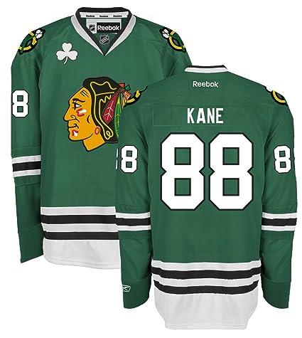 Amazon.com   Patrick Kane Chicago Blackhawks Green Premier Jersey by ... 788536865