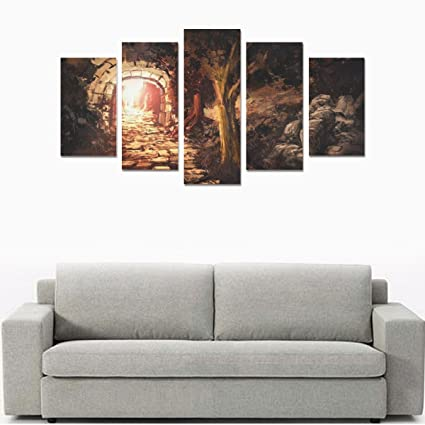 Amazon.com: Custom Made Glowing hole in the forest Canvas Prints ...