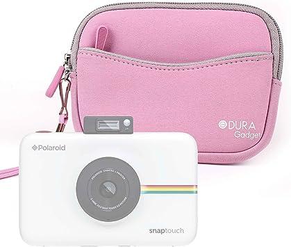 DURAGADGET Funda/Estuche De Neopreno Rosa para Cámara Polaroid Snap Touch 2.0 + Correa De Mano: Amazon.es: Electrónica