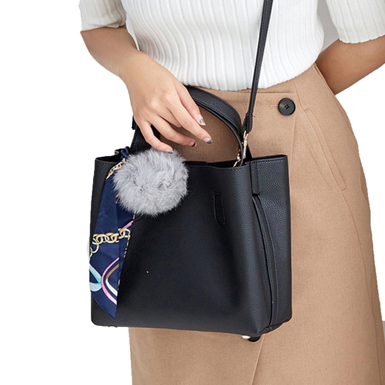 Litchi Pattern Soft PU Leather Women Handbag Two Pieces Female Shoulder  Girls Messenger bag Casual Bag, black  Handbags  Amazon.com 41cc0b515d