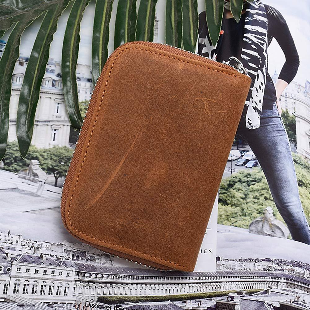 Badiya Leather Credit Card Case Holder Wallet RFID Dad Mom to Son Daughter Best Birthday Gifts