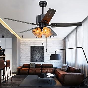 Akronfire - Ventilador de techo de estilo industrial con 5 ...