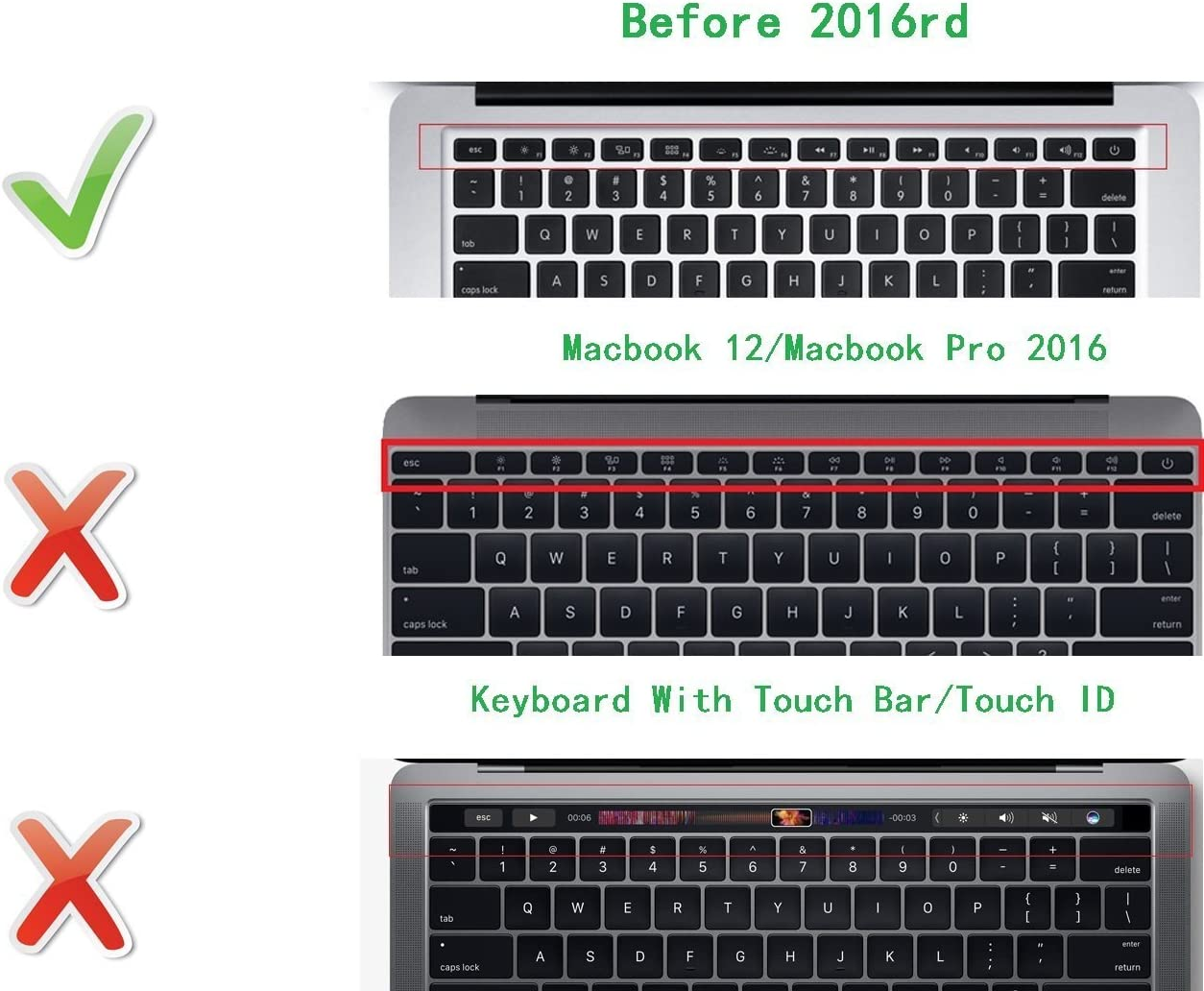 HRH Persian Farsi Silicone Keyboard Cover Skin for MacBook Air 13 MacBook Pro with or without Retina Display 13 15 17 Apple Wireless Bluetooth Keyboard MC184LL//B US Version Persian//English-Black