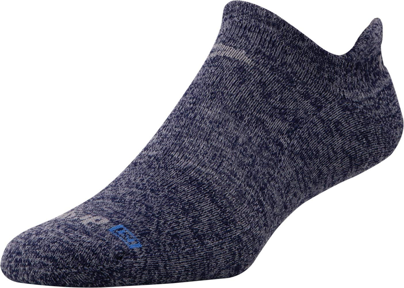 Running Lite-Mesh No Show Tab (Navy Heathered, X-Large) by Drymax