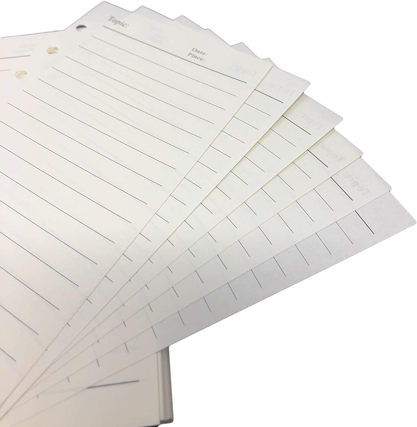 Rusoji 240 Sheets A6 Horizontal Line Paper Refills with 6 Hole Punched for 6-Ring Binder Notebook Pages Planner Journal