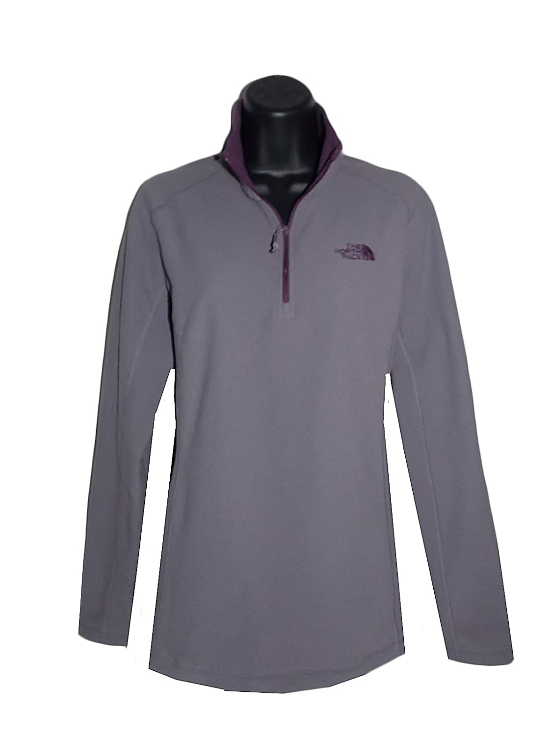 The North Face Womens 100 WT Glacier 1/4 Zip Jacket Coastal Grey Size Large
