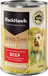 Black Hawk - Grain Free, Wet Dog Food, Beef, Adult and Senior, 400g
