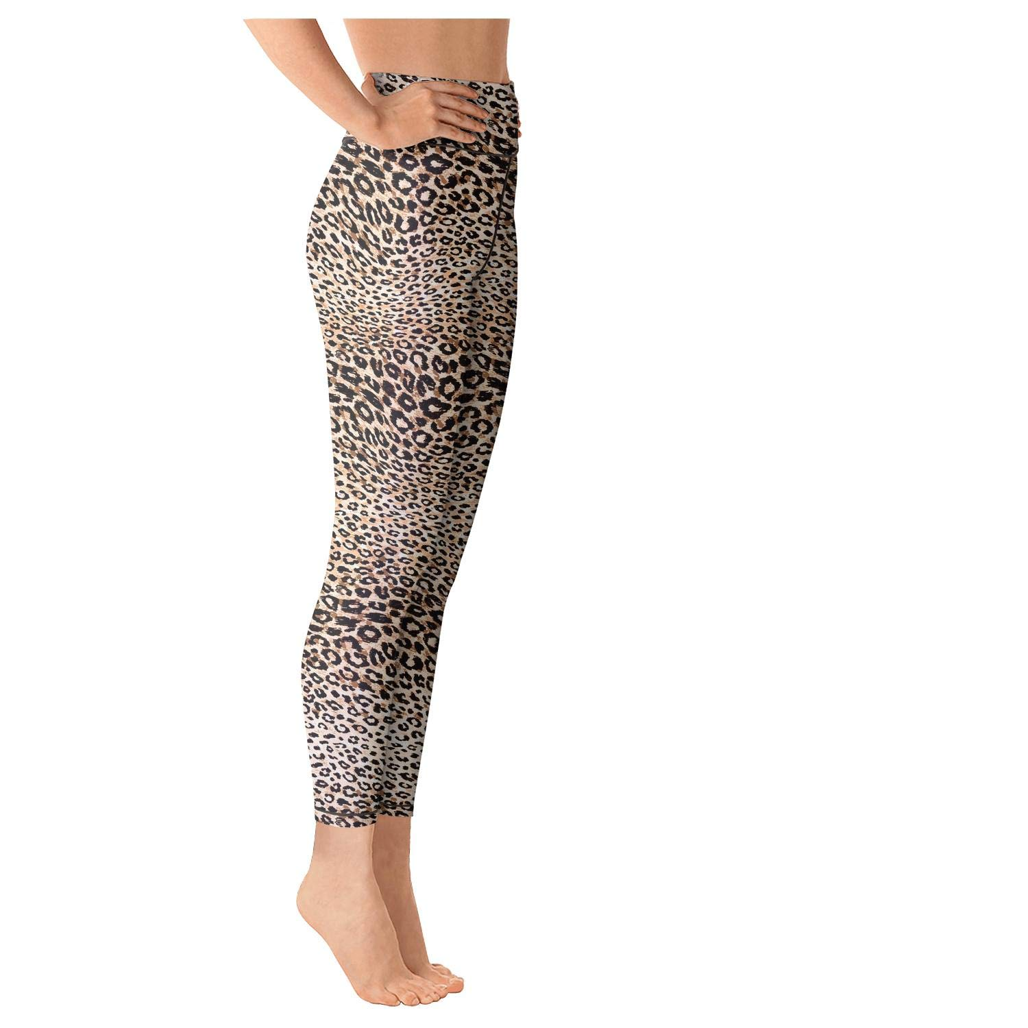Jufdds Camouflage Color Block Collage Army High Waist with Pocket Yoga Pants Sweat-Wicking Legging Fitness Retro