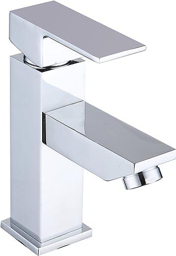 DP Grifería - Grifo monomando de lavabo, color plateado, serie ...