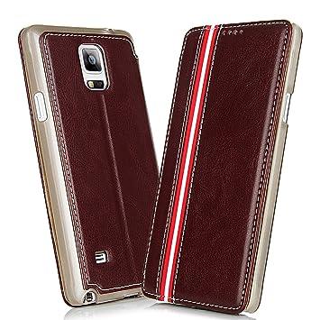 df2704b881d Samsung Galaxy Note 4 Funda - NextMall Funda Cuero Folio Carcasa para Samsung  Note 4 Piel Case Cover cierra magnético con Soporte Plegable(Marrón): ...