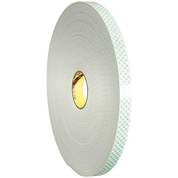 "3 M 4008 Poliuretano espuma cinta adhesiva de doble cara, 1/8 """