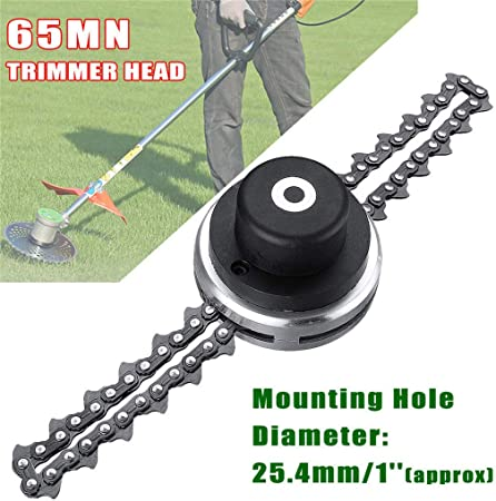 1X Brush Cutter Parts Trimmer Head with Coil Chain Power Lawn Mower Spare Parts