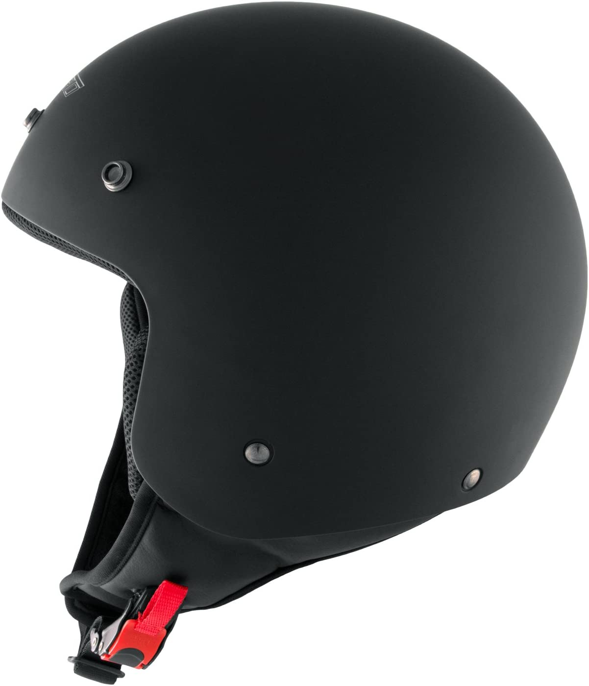 Motorradhelm Quad Roller Offenes Jet Helm Custom Ece 22 05 Polierten Schwarz Matt Xs Auto