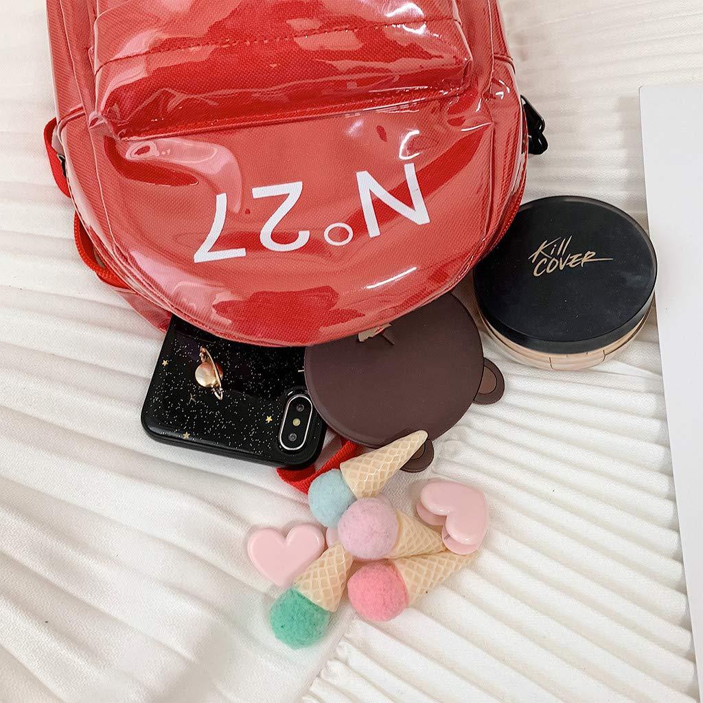Travel Daypack for Women /& Girls Holographic Laser Mini Reversible Sequin PVC Backpacks