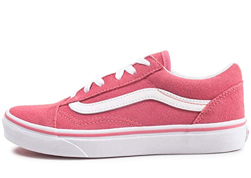 5747989f0a Vans UY Old Skool Desert Rose True White Suede Youth Trainers ...