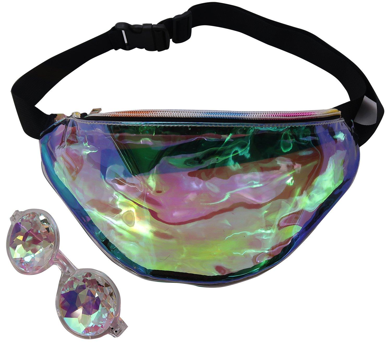 Hologram Fanny Waist Pack Holographic Women Festival Packs Kaleidoscope Glasses