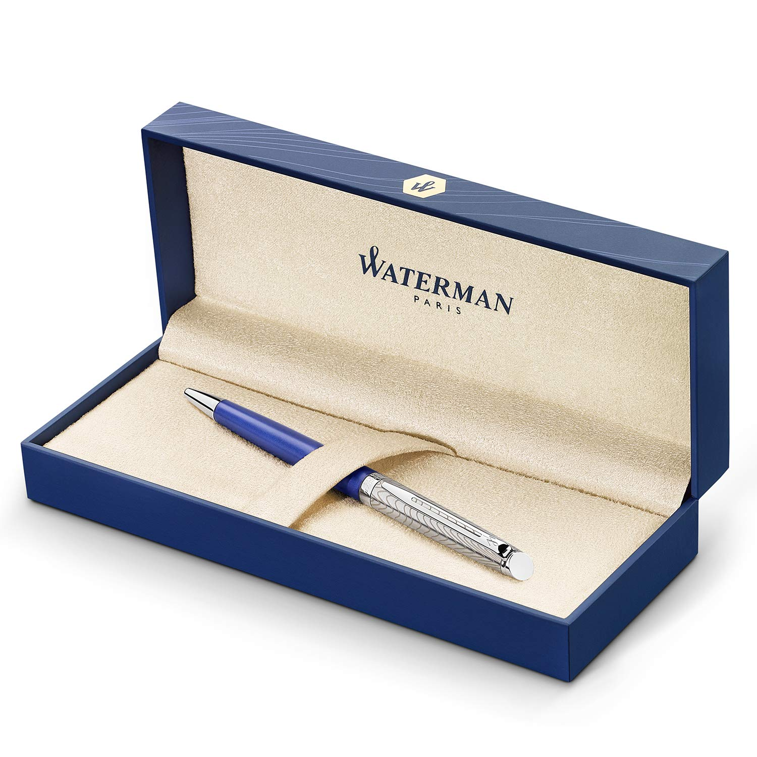 Waterman Hemisphere Deluxe Ballpoint Pen Medium Point with Blue Ink Cartridge (2043218)