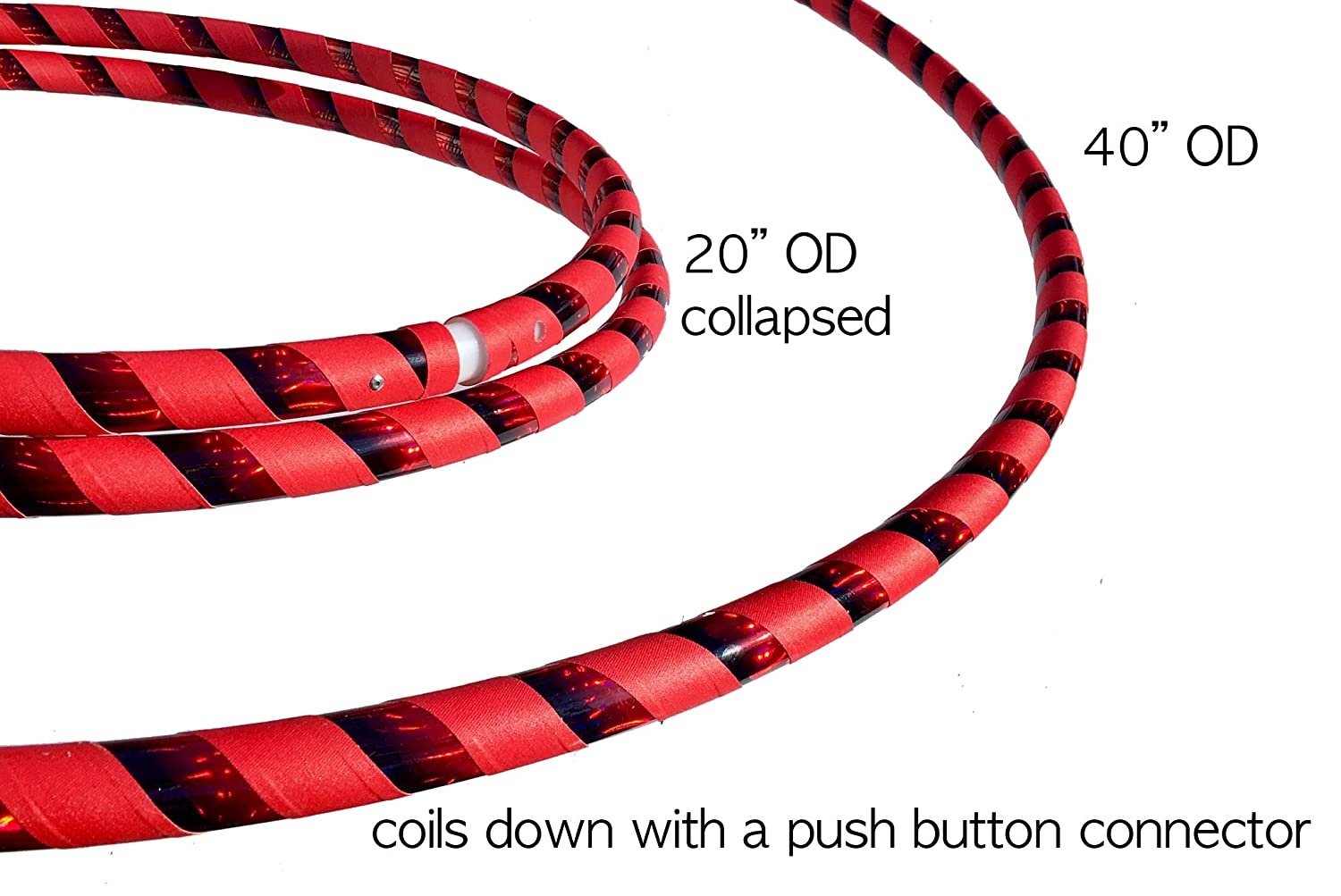 Hoop Size 40 Outside Diameter and Weighs 13.5 oz SpinMajik Beginner Adult Hula Hoop for Fun Fitness and Dance