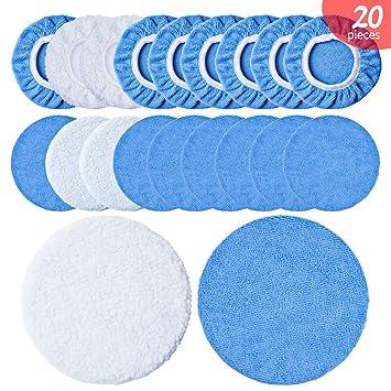 1 X Microfiber Car Polishing Waxing Polisher Bonnet Buffing Pad Cover Paint Care