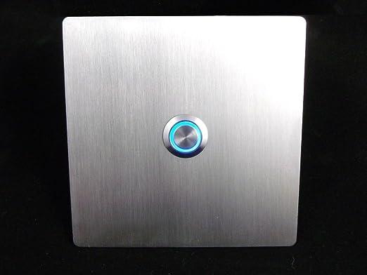 V2 A iluminado diseño acero inoxidable Placa de timbre ...