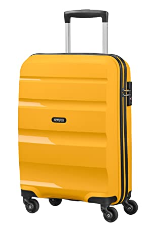 American Tourister Bon Air - Spinner Small Strict Equipaje de Mano, 55 cm, 31.5 Liters, Amarillo (Light Yellow): Amazon.es: Equipaje