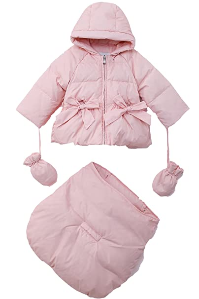 3da4f19c5 Amazon.com  Oceankids Baby Girls  Newborn Pram Down Bunting Snowsuit ...