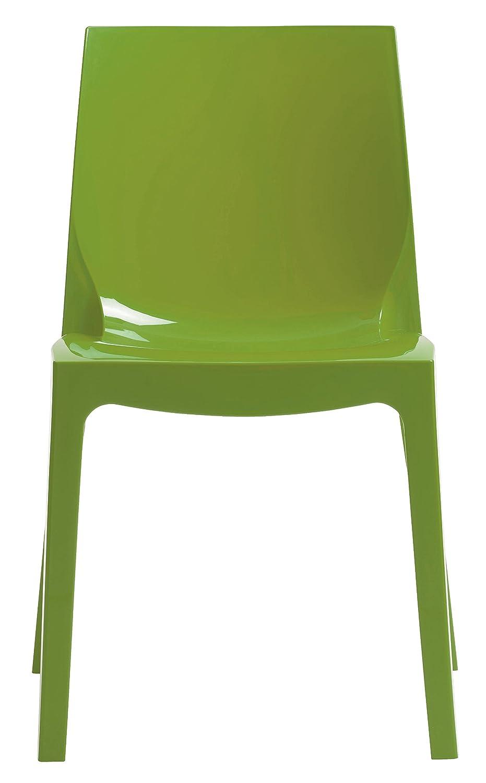 GRAND SOLEIL Grandsoleil, Upon Ice Higlopp - Sedia impilabile, in policarbonato, 54 cmx 52 cmx 81cm, colore: verde lucido Grandsoleil_S6317VA