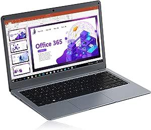 Jumper Ordenador Portátil Microsoft Office 365, Laptop FHD 13,3 Pulgadas,4GB DDR3,64GB eMMC, Memoria Expandible 1TB SSD y 256GB TF,Intel Celeron CPU,WiFi de Doble Banda,Windows 10,Bluetooth 4.2