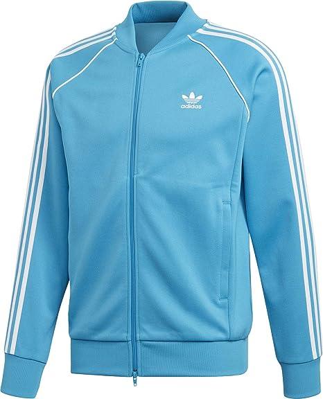 Adidas Superstar Track Top Jacket Shock Cyan