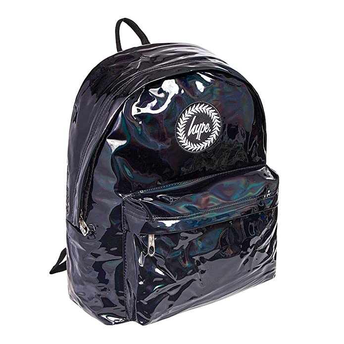 b77a88ef35 Hype Holographic Backpack Black  Amazon.co.uk  Shoes   Bags