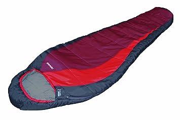 High Peak Redwood Saco de Dormir, Unisex, Gris Oscuro (Burdeos) / Rojo, 230 x 85/55 cm: Amazon.es: Deportes y aire libre