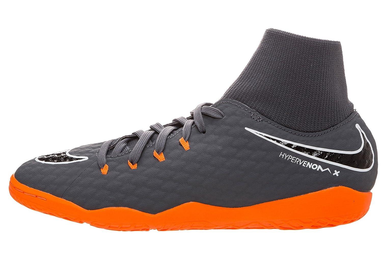e424bdd13a17 Amazon.com | Nike Mens Hypervenom Phantomx 3 Academy DF Indoor Shoes [Dark  Grey] (10) | Soccer