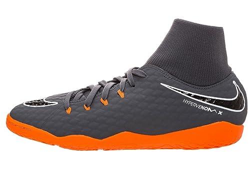 Nike phantomx 3?Academy DF IC, AH7274, Dark Grey/Total Orange-WHI, 8.5