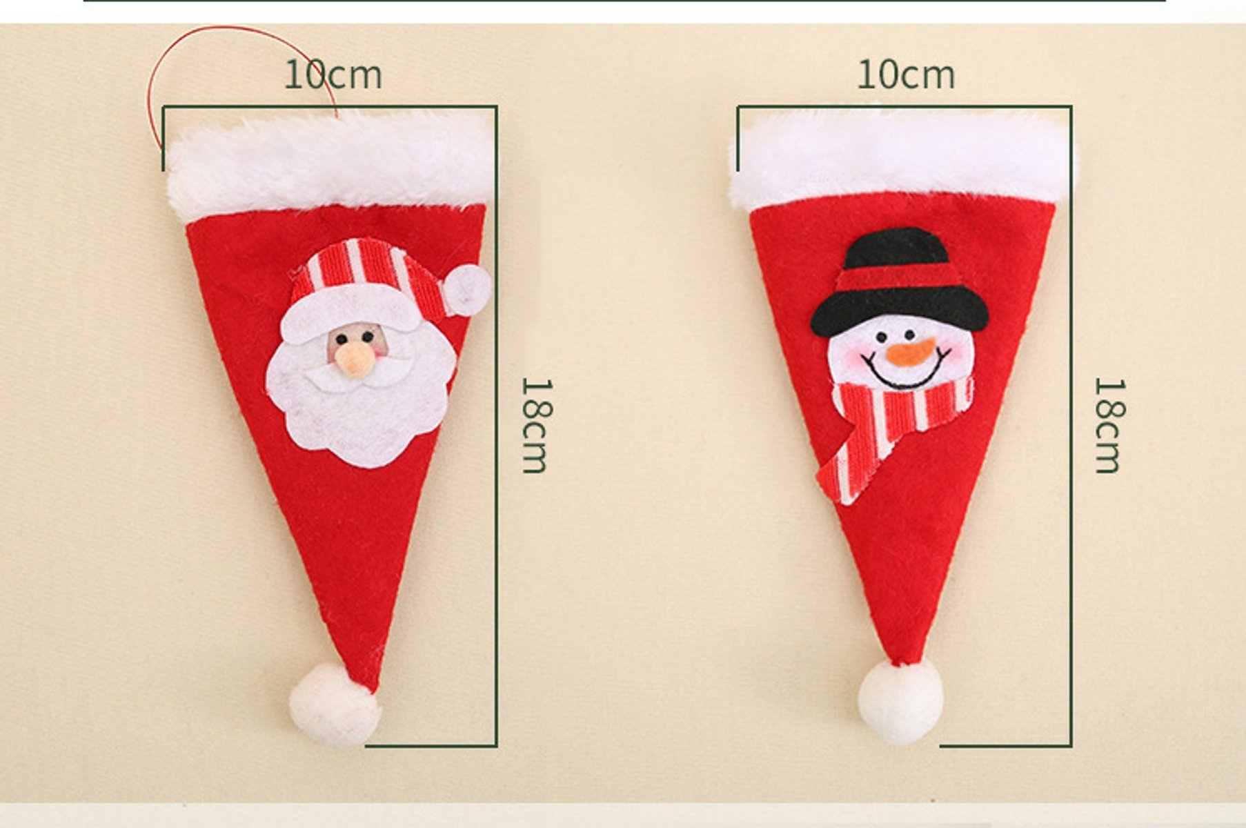 12pcs Christmas Silverware Holders Christmas Cutlery Bag Holders for Christmas Dinner Table Decoration(6pcs Santa Claus+6pcs Christmas Snowman)