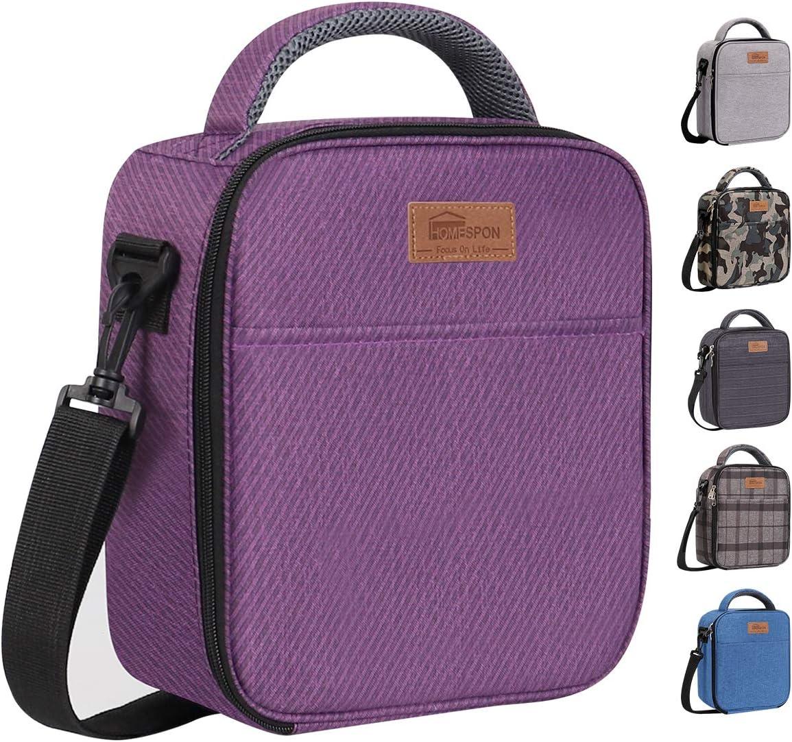 Estudiantes y Ni/ños HOMESPON Bolsa Isot/érmica de Almuerzo Lunch Bag Bolsa T/érmica Porta Alimentos Tela Impermeable Plegable Bolso de Picnic para Mujeres Adultos