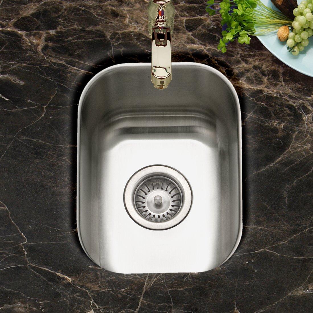 Houzer CS 1307 1 Club Series Undermount Small Bar/ Prep Sink   Sink  Strainers   Amazon.com