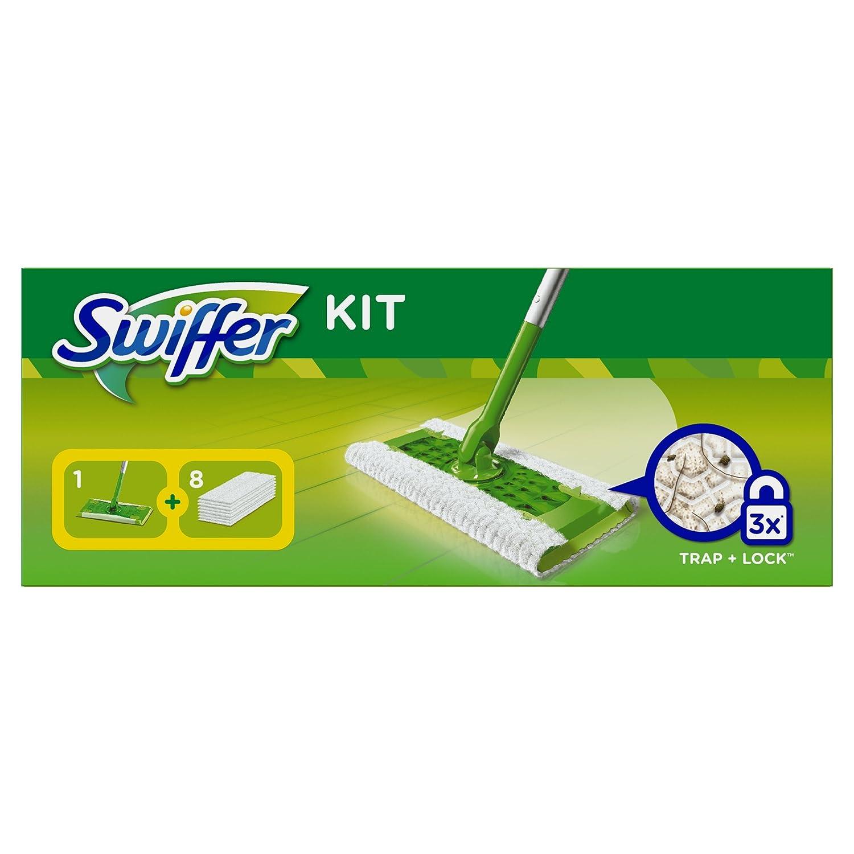 Swiffer Set 1 Bodenwischer Plus 360°-Drehkopf und 8 Boden-Staubtücher 1 Stück