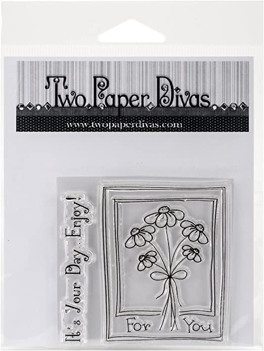 Amazon Com Two Paper Divas It S Your Day Clear Stamps 6 X 4 5 Arts Crafts Sewing