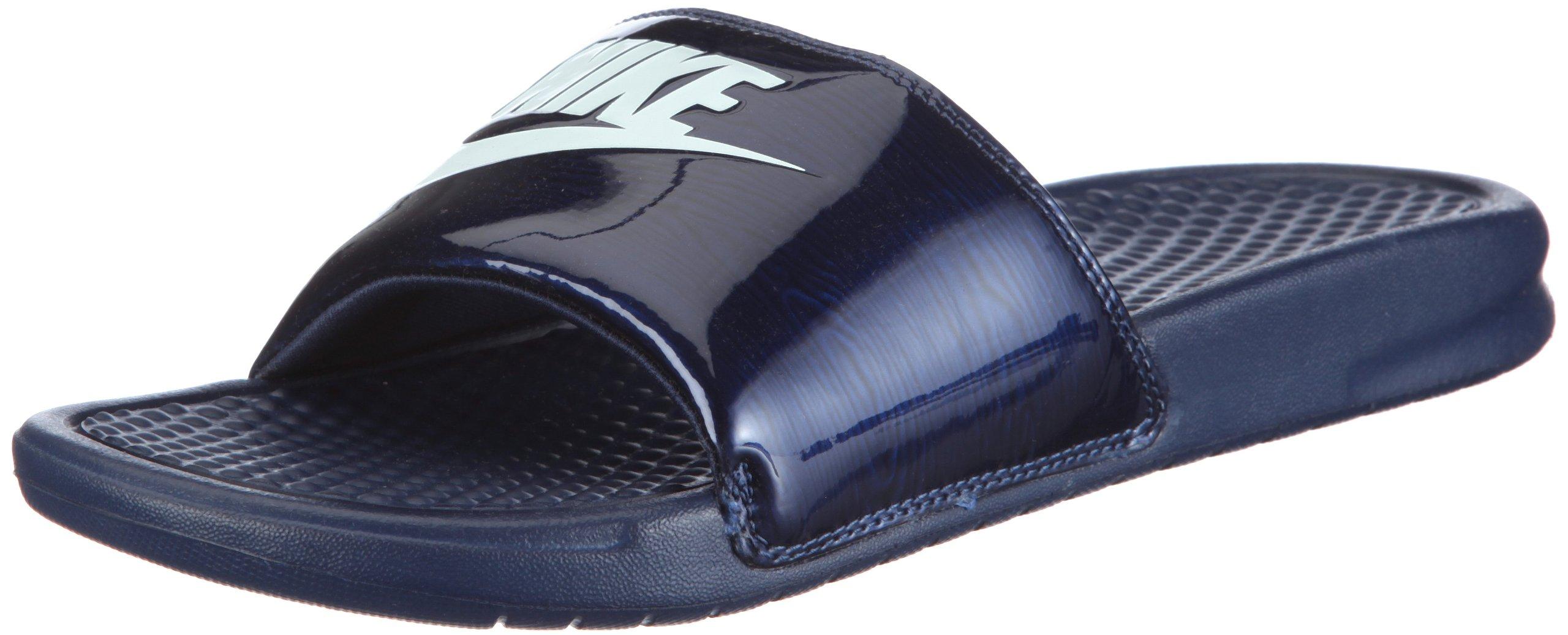 NIKE Men's Benassi Just Do It Athletic Sandal, Midnight Navy/Windchill, 11 D US by NIKE