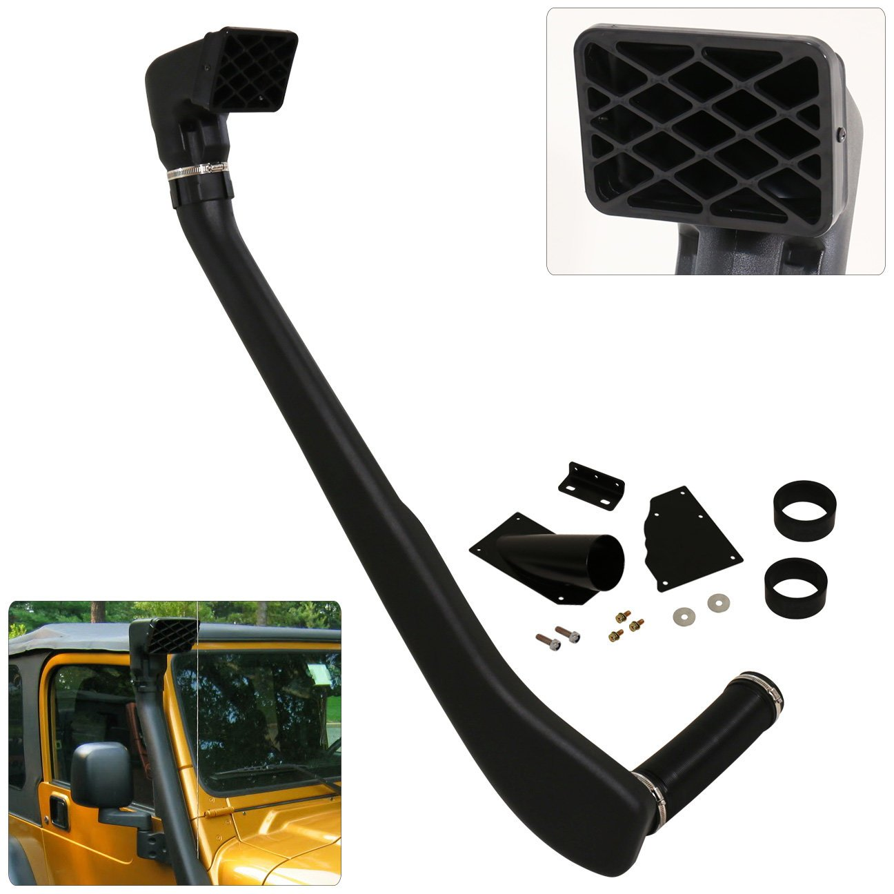 Off Road Snorkel Ram Air Intake System For The Jeep Wrangler Tj Yj Of 1999-2006