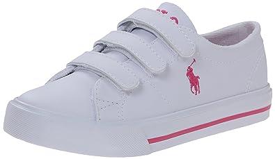 Polo Ralph Lauren Kids Scholar EZ Fashion Sneaker (Toddler/Little Kid),White