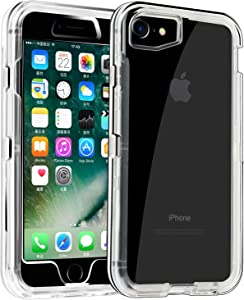 Co-Goldguard Phone Case for iPhone 6/6s Heavy Duty Hybrid Crystal Dual Layer Cover Shockproof Shell Hard PC Soft TPU Bumper Reinforced Corners Protective Case Design for iPhone 6/6s,Clear