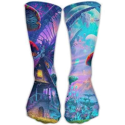 YUANSHAN Socks Mushroom Cartoon World Women & Men Socks Soccer Sock Sport Tube Stockings Length 11.8Inch