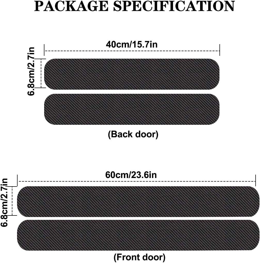 4 Pezzi di Protezione in Fibra di Carbonio Adesivi per Soglia Porta Auto Adesivi per Volvo XC90 Protezioni Battitacco per Auto Cover Decor Antiscivolo Accessori AntiGraffio