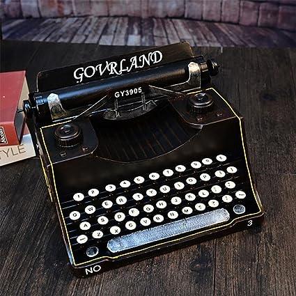 WW Ornements manualidades muebles antiguas máquinas de escribir arrastre los accesorios, negro, 36*