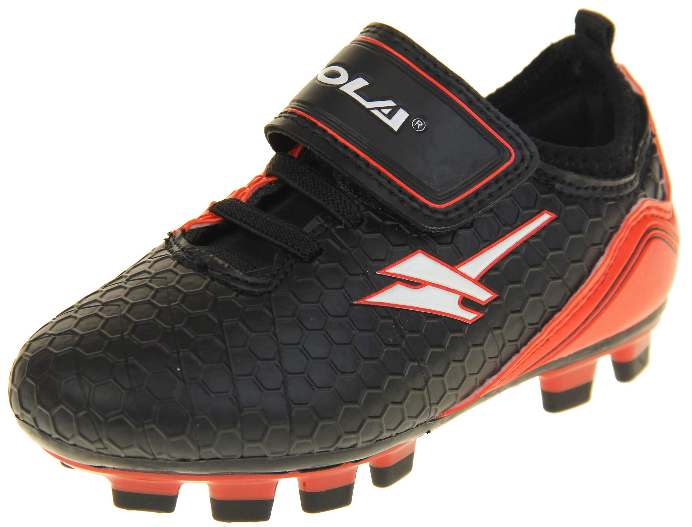 Gola Boys Blade Astro Turf Football Boots Sneakers Black & Red US 9