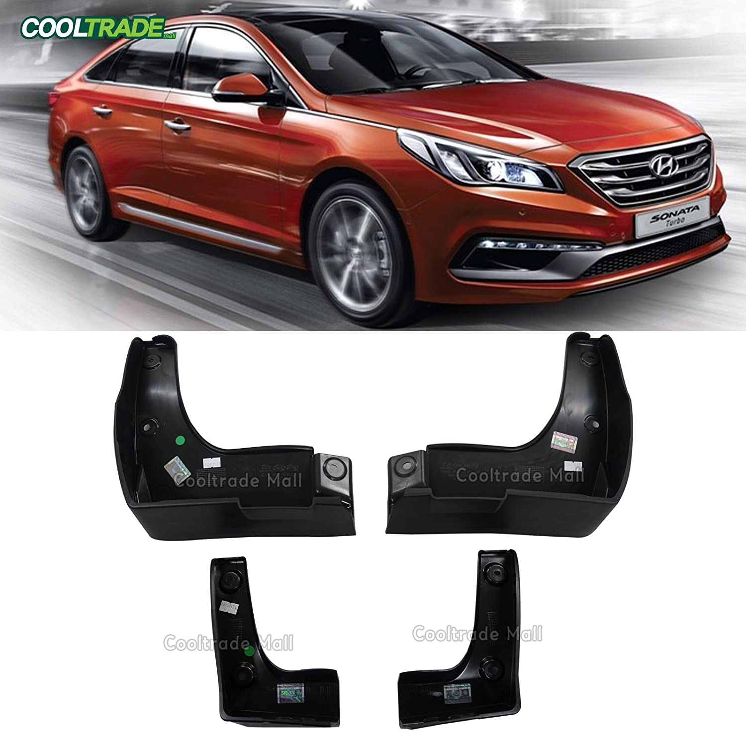 hyundai sonata 2015 exterior. amazoncom genuine mud guard splash flaps 4pcs for hyundai sonata 2015 2016 automotive exterior