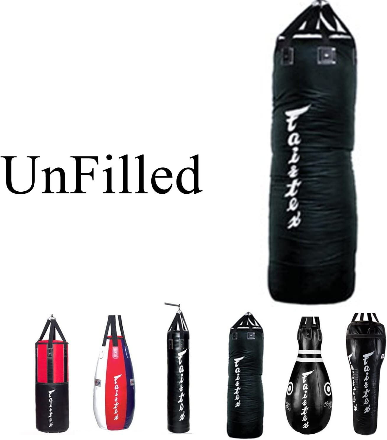 Fairtex UNFILLED HB10 - Bowling Bag Black Heavy Punching Bag for ...
